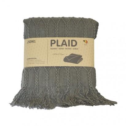 Plaid tricot 130x150 cm - Grey