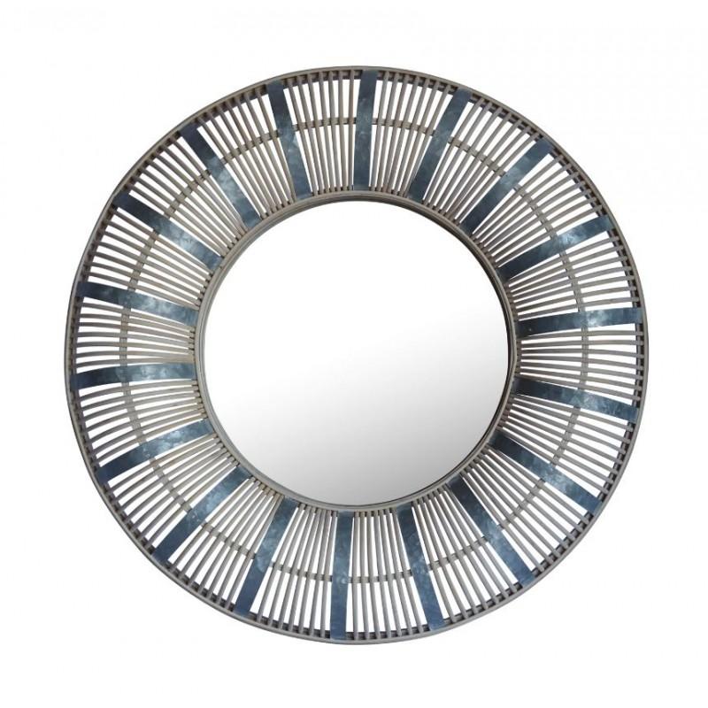 Miroir Rond en bambou Galva avec rotin  D72 cm