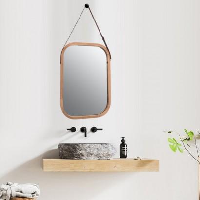 ELIJA bamboo mirror 33x40.5 cm