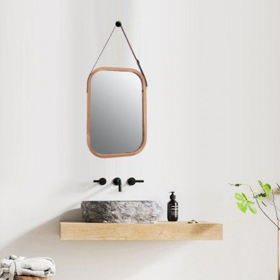 ELIJA miroir bamboo 26x38 cm