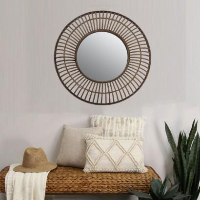 SIWA miroir en bambou D72 cm