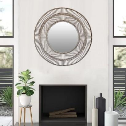 PALMA miroir en bambou D72 cm