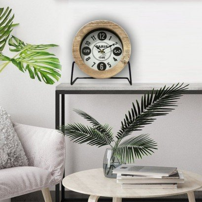 LOWELL horloge de table H22 cm
