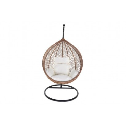 Resin egg hanging armchair...