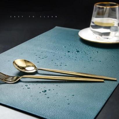 PU placemat 33x46 cm - Blue