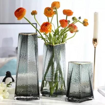 Vase MALMO grey H27