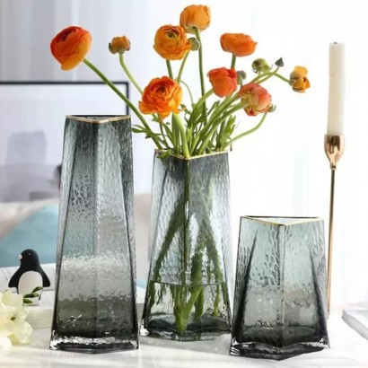 Vase MALMO grey H22.5