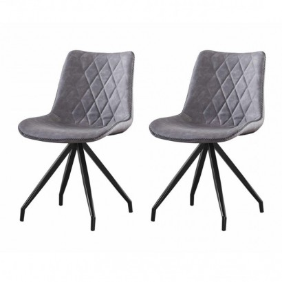 Set of 2 DONIA chaises en...