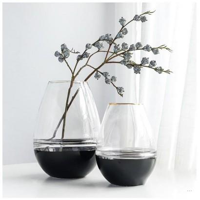 Vase GHANIMA en verre H18 cm