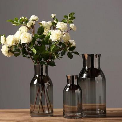Vase ERIKA in glass H20 cm