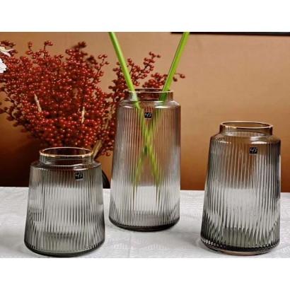 Glass vase KILALI H20 cm