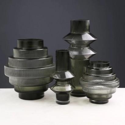 Vase SOBAT en verre H16 cm