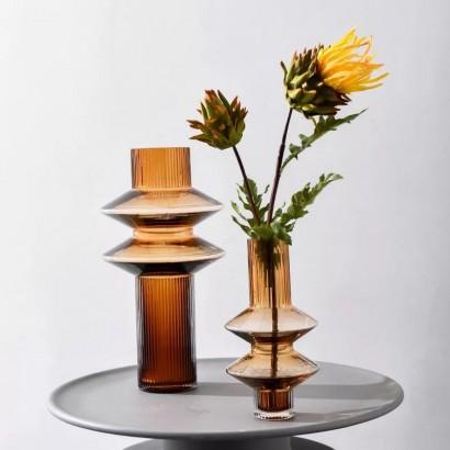 Vase SARAYA en verre H32 cm