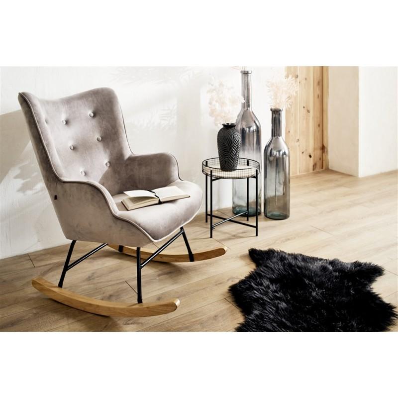 MORLI Table d'appoint en bois et métal d39cm