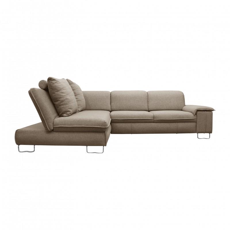 Grand Canapé d'angle en tissu  convertible 6-7 places-LINDA