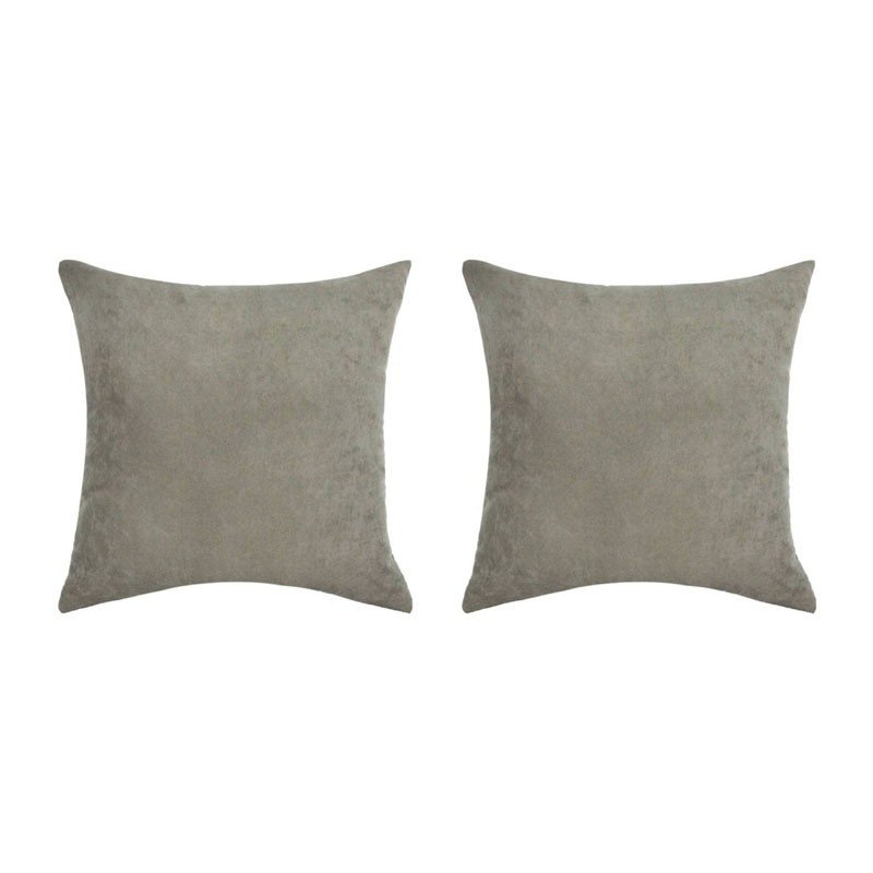 Set of 2 VOLTERRA cushions with removable mole suede 40x40