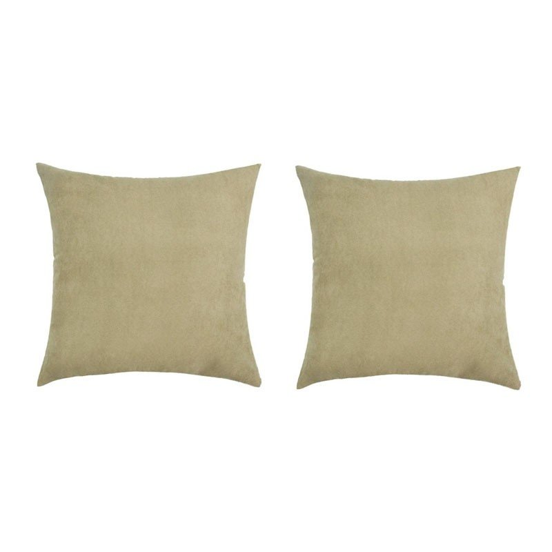 Set of 2 VOLTERRA cushions with removable sand suede 40x40