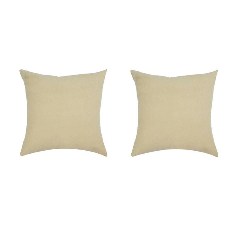 Lot de 2 coussins VOLTERRA déhoussables en suédine beige 40x40