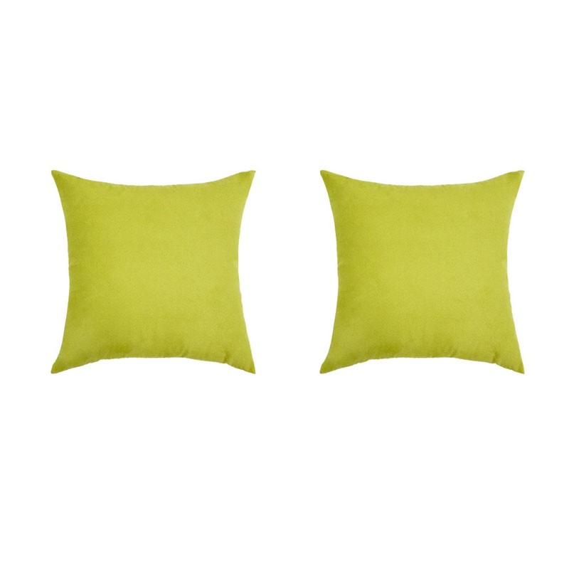 Set of 2 removable VOLTERRA cushions in aniseed suedecloth 40x40