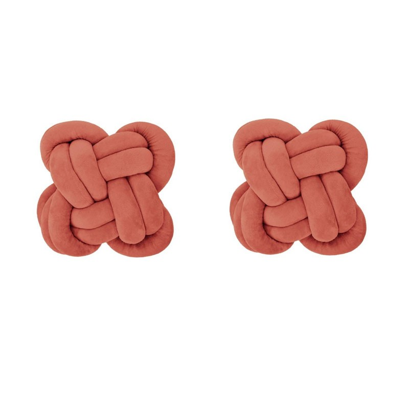 Set of 2 cushions IGAPO knot rust 30x30