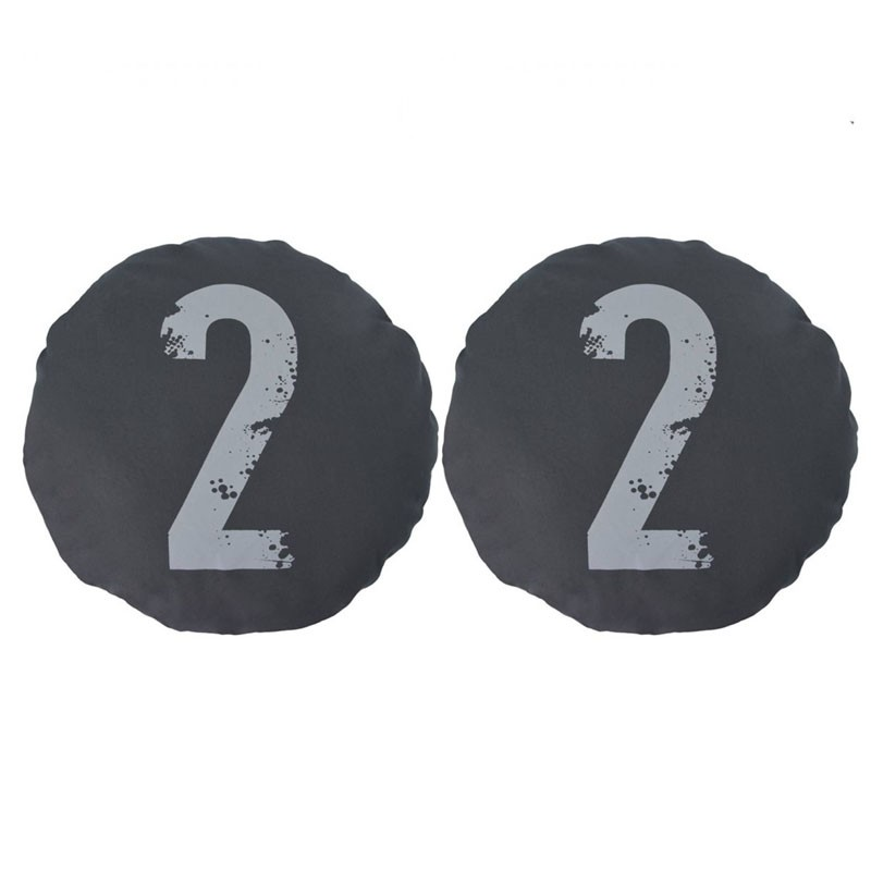 Set of 2 CHOI round cushions number 2 black D45