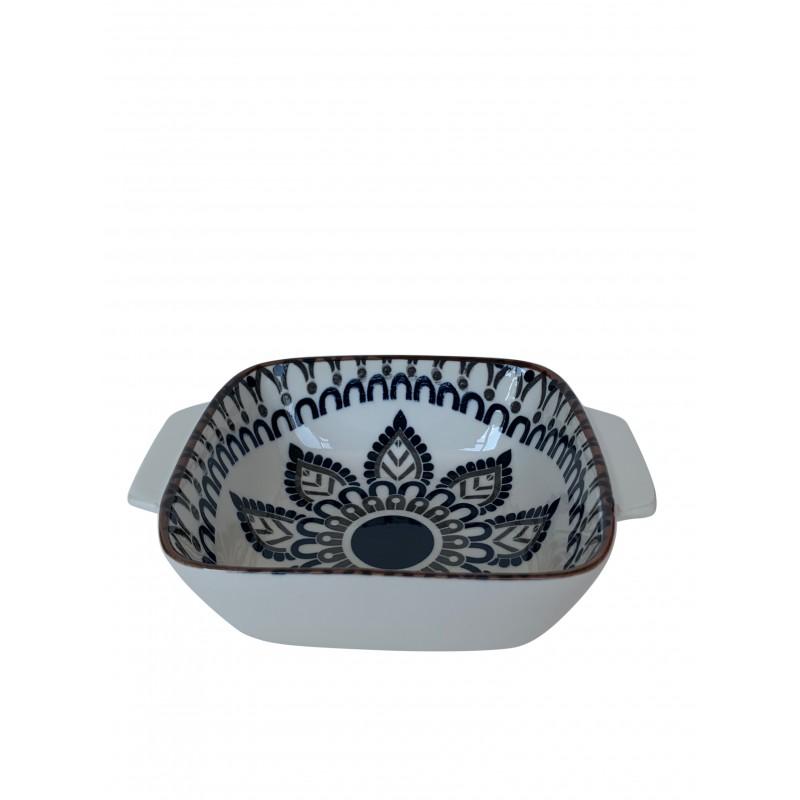 NAGASAKI assiette creuse en céramique 16x16 cm