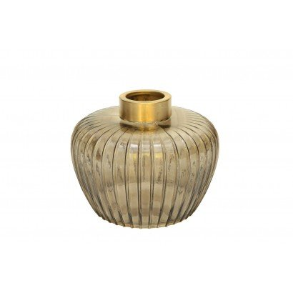 Vase MIYOSHI en verre H16 cm
