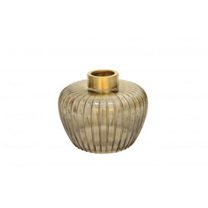 Vase MIYOSHI en verre H13 cm