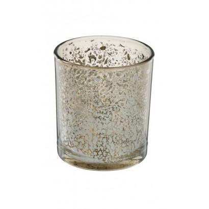 Bougeoir en verre H8 cm