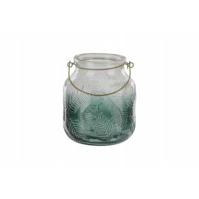 Glass candle lantern with...