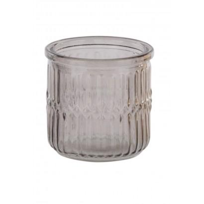 Glass candleholder H7.7 cm