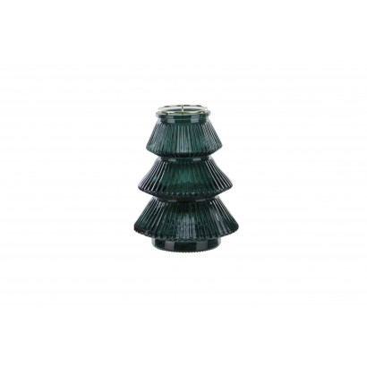 Glass candleholder in the...