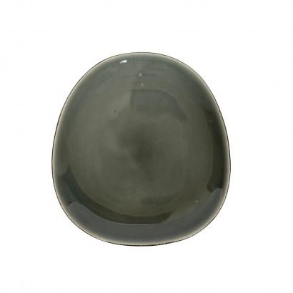 Ceramic pebble plate D21 cm