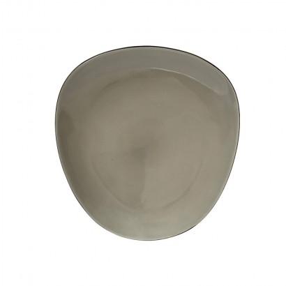 Ceramic pebble plate D27,5 cm