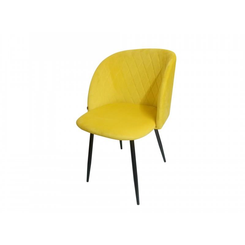 Chaise de salle à manger capitonnée