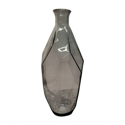 Vase ORIGAMI en verre gris...