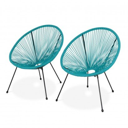 Set of 2 Garden Armchairs...