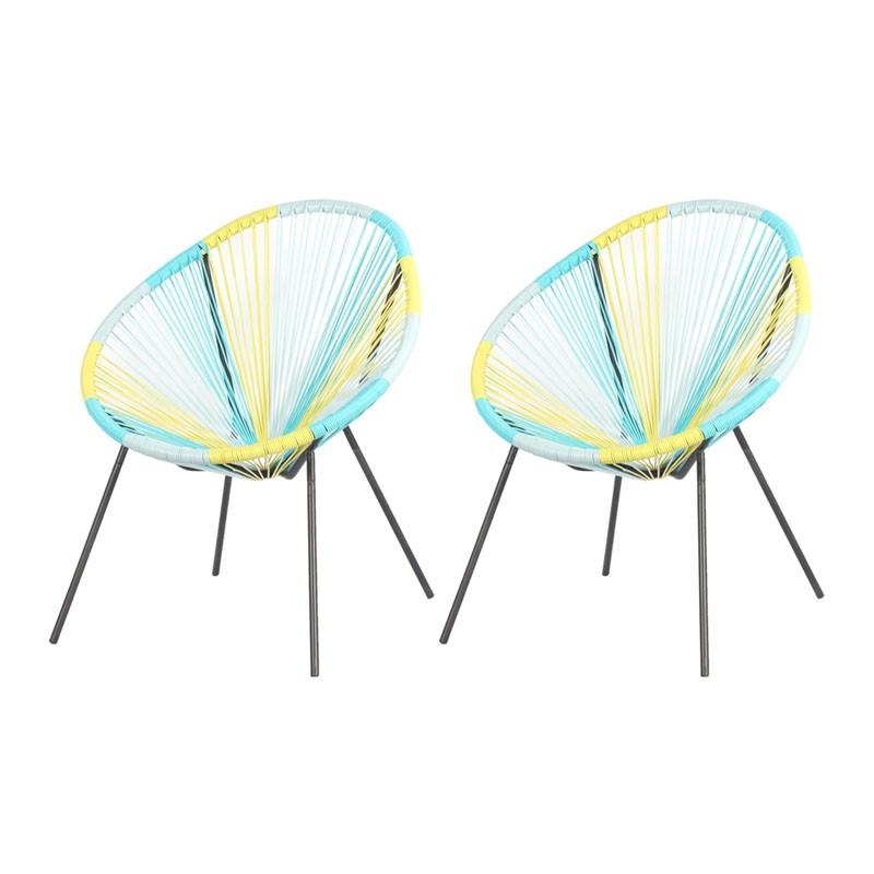 Lot de 2 fauteuils de jardin accapulco copacabana oeuf filaire