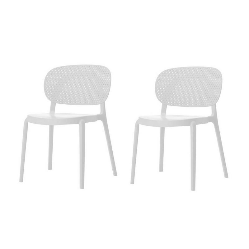 Lot de 2 chaises CHLOE PP empillable 50x49xH78 cm