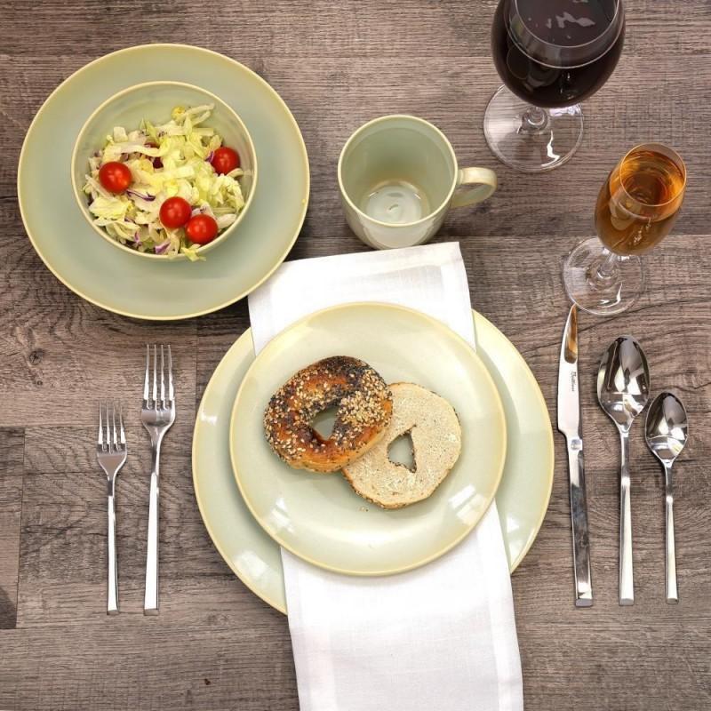 BLANKI assiette plate en céramique blanc D27 cm
