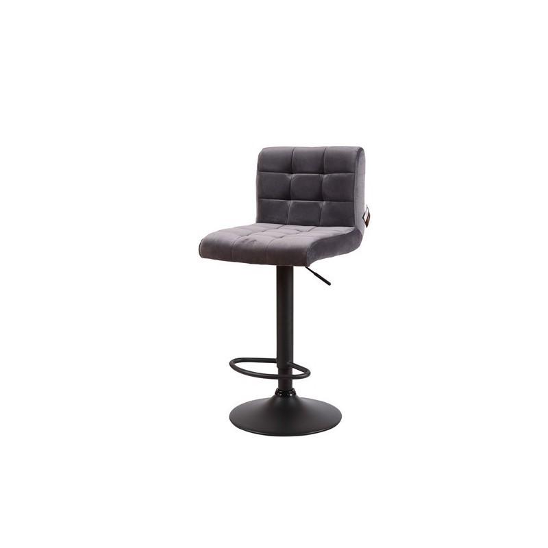 Kitchen stool Adjustable height swivel velvet seat