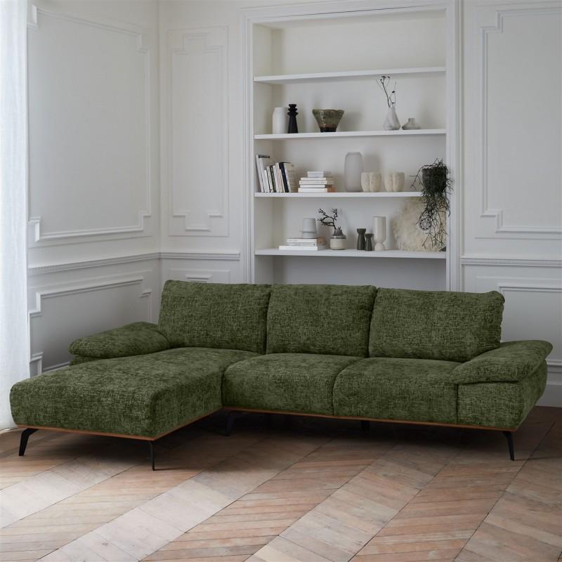 Canapé grand angle Milan 5 places 300X170CM en tissu prémium