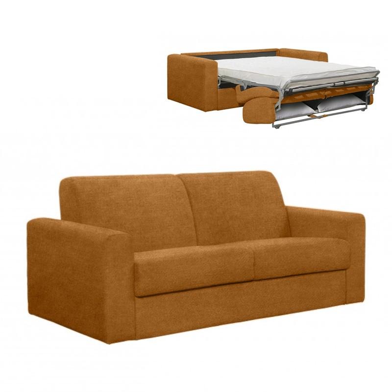 Canapé 3places convertible express en tissu Vogue + matelas 140cm inclus  Rapido
