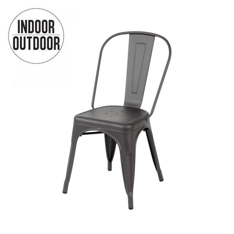Lix industriële stoel geïnspireerd op Tolix loft