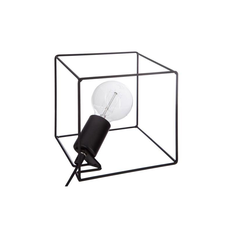 Lampe cube en métal Noir 18.5x18.5x18.5cm