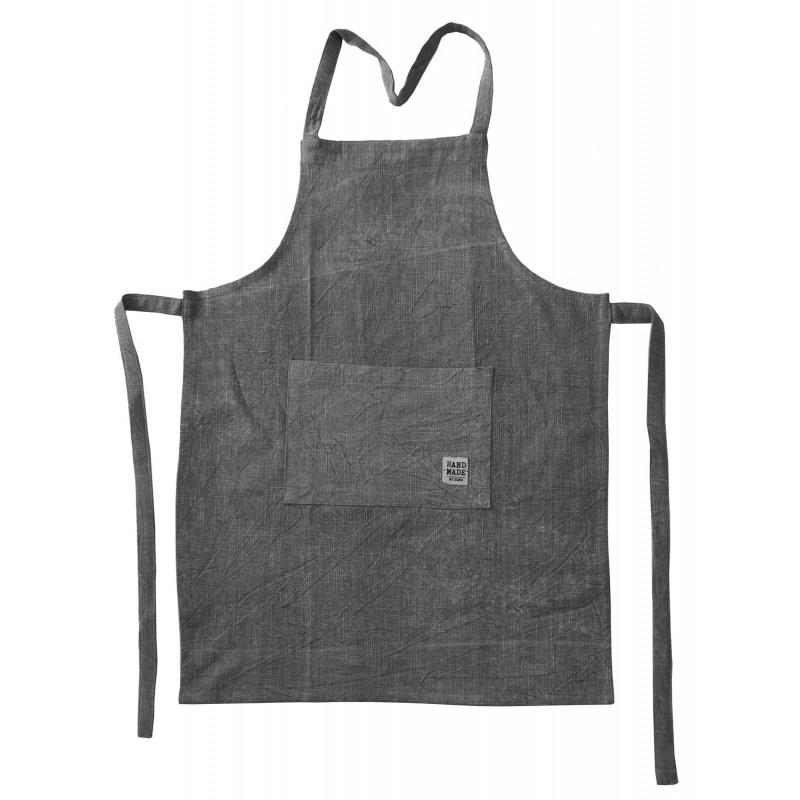 Tablier de cuisine en coton chiné, 60xH84CM- HAND MADE