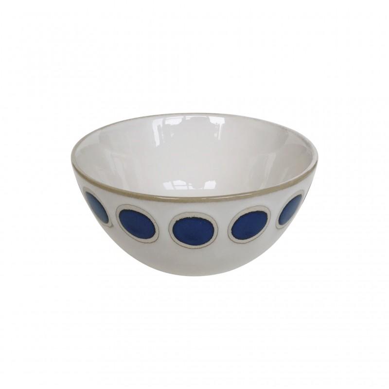 Bol en céramique à imprimés bleu, D15CM - AZUL