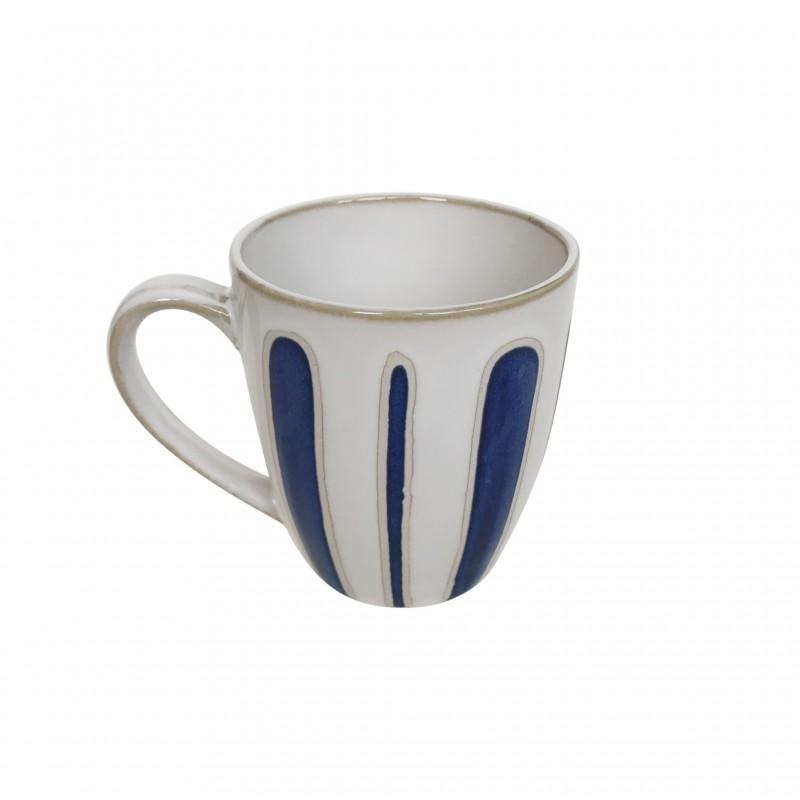 Mug en céramique à imprimés bleu, 340g - AZUL