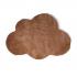 Fluwelen kindertapijt, wolkvorm, 70x100CM - CLOUDY Kleur Bruin