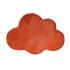 Children's velvet carpet, cloud shape, 70x100CM - CLOUDY Color Orange